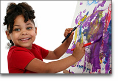 Childcare - Pre Kindergarten Girl Painting